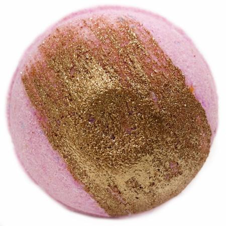Šumivá bomba do kúpeľa Ružové zlato, 140g