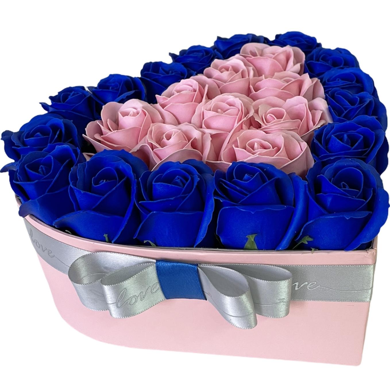 Flower box v tvare srdca Laura, veľ.S