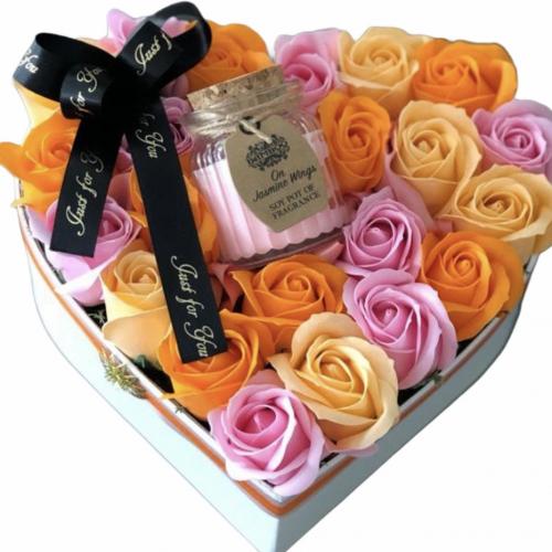Flower box so sviečkou Shining Heart
