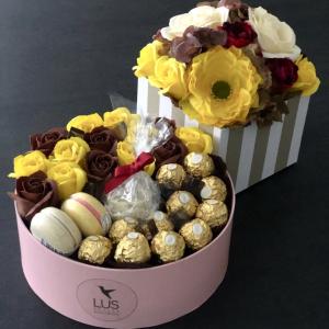 Darčekový flower box Autumn Gift