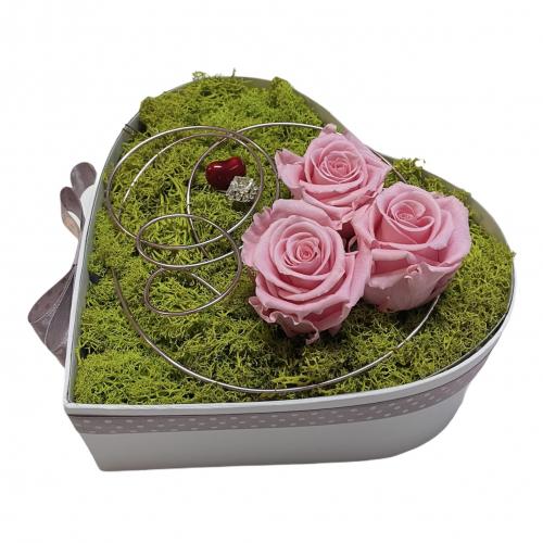 Kvetinový box s trvácnymi ružami Amore