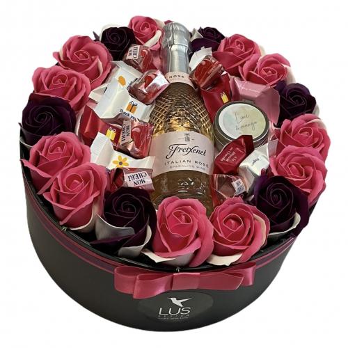 Luxusný darčekový flower box Pure Joy