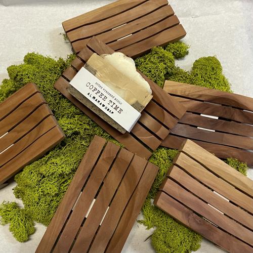 Obdĺžniková mydelnička z mahagónu