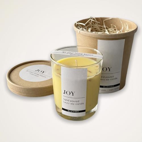 Sójová sviečka so sušenými kvetmi, 200g - Joy
