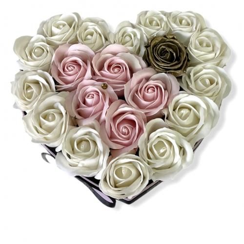 Srdcový kvetinový box Perfect love