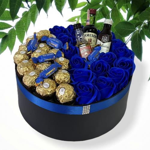 Veľký darčekový box pre muža King Blue
