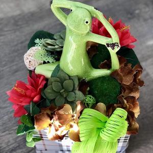 Flower box Yoga Frog