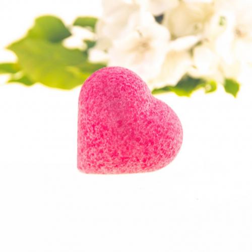 Kúpeľová gulička v tvare srdca Energizujúce červené hrozno, 85g
