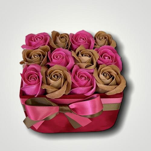 Sametový bordový flower box Ellie