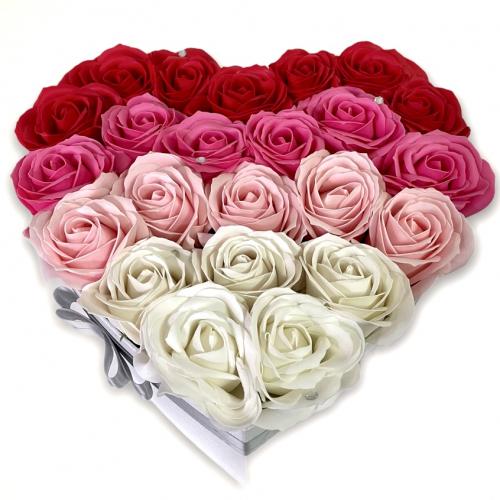 Veľký kvetinový box v tvare srdca Heavenly Love