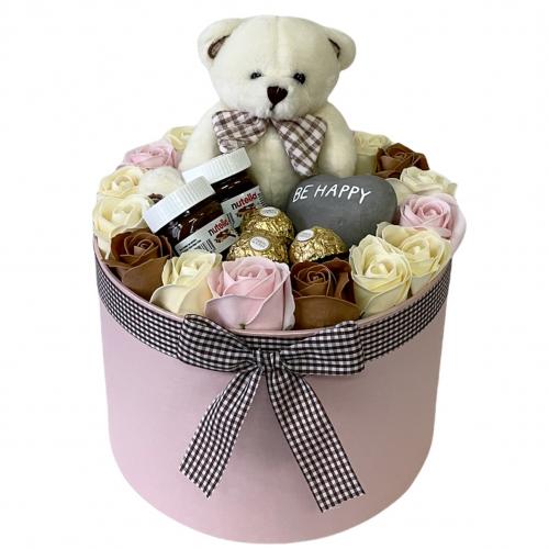 Luxusný darčekový box s macíkom Be Happy