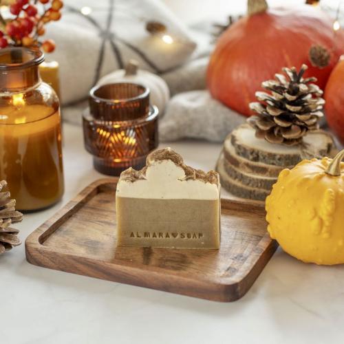 Prírodné dizajnové mydlo Pumpkin Spice Latte, 100g
