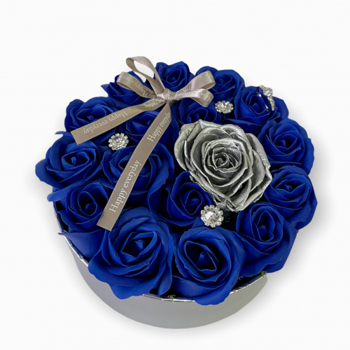 Luxusný flower box Royal Silver Blue