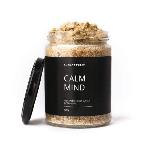 Prírodná relaxačná soľ do kúpeľa Calm Mind, 450g